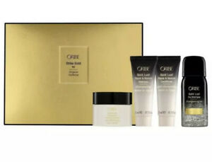 ORIBE Strike Gold Kit (Pre-Shampoo,Shampoo,Conditioner,Dry Shampoo) Travel Kit