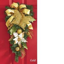 Gold Butterfly Teardrop-Shaped Christmas Holiday Swag