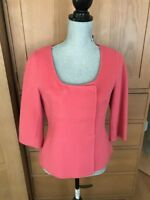 Talbots Double Faced Wool Skirt Suit - Watermelon Pink - Size 10