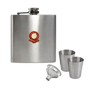 Heart of Midlothian football club hip flask gift set