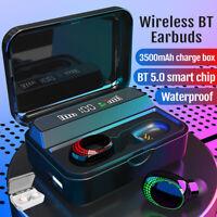 Bluetooth 5.0 Mini Earbuds Wireless Earphones TWS Stereo In-Ear Headphones & Box
