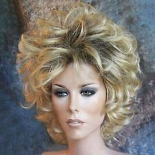 11.8 in Short Curly Synthetic Wigs Curly Hair Ombre Grey Wigs for Cosplay Gold