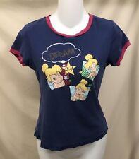 Juniors Size Small Disney Brand Pajama Top Sleep Shirt Tinker Bell Dream Big