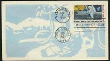 C76 Moon Landing Cachet 1969 Dual Cancel Unaddress Moon Landing First Day Cover