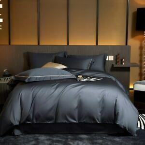 Duvet Cover set Luxury Egyptian Cotton Silky Bedding Set Bed Sheet Pillowcases