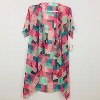 LuLaRoe Shirley Women's Top Cardigan Size S Kimono Coverup Sheer Multicolor