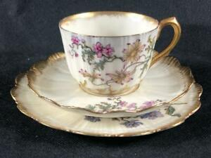 FINE ANTIQUE FRENCH LIMOGES ( M. Redon.) PORCELAIN CUP, SAUCER & PLATE. #8.
