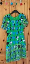 Irresistible HM Versace Collection Dress size 38 New love-heart green blue