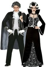 Signore e Coppie Da Uomo Nero/Bianco Royal Vampiro Halloween Fancy Dress Costumes