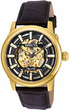 Invicta Men's Objet D'Art Automatic Stainless Steel Brown Leather Watch 22611