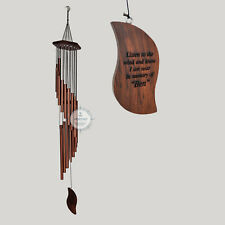 Wind Chime Custom engraved Memorial Wind Chime Personalized Anniversary Gift