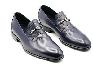 NWT STEFANO RICCI Logo  Leather EAGLE Shoes Eu 43 Uk 9 Us 10 (SR696)