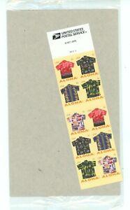 Aloha Shirts VERY SCARCE Booklet Pane of 10 FACTORY SEALED Scott 4686b