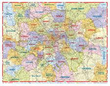 London Postcode Map by A-Z Maps (GLOSS LAMINATED WALL MAP)