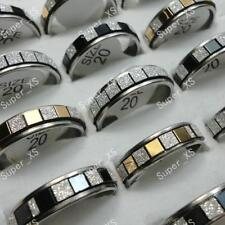 10pcs Wholesale Jewelry Lots Stainless steel Frosted Mixed Rings Free shipping