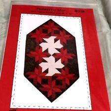 """Lovely POINSETTIA STAR Quilt Pattern CHRISTMAS TABLE RUNNER 18"""" X 36"""""""