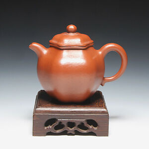 "OldZiSha-Classic China Yixing ZiSha 140cc Old Pure ZhuNi Small ""Hexagon"" Teapot"