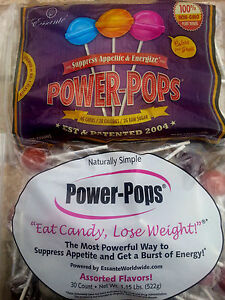 **90ct Power POPS Lollipops Lose Weight Tummy Diet Candy Flat Suppress Appetite
