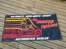 "Rare! 36"" X 72"" Go Cart Mini Bike Dingo Mango Machines Banner Vintage Sign"