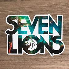 "Seven Lions Logo 5"" Wide Vinyl Sticker - BOGO"