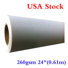 """US Stock - (260gsm) Water Resistant Matte Polyester Canvas 24""""(0.61m)"""
