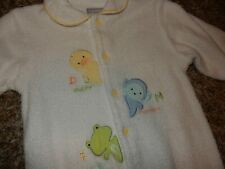 3-6M Vintage Carter'S Duck Monkey Frog Terry Cloth Snap Footed Sleeper Outfit