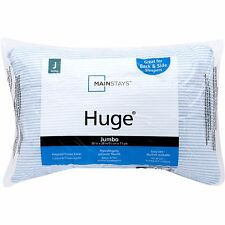 HUGE Pillow Comfort Standard and Queen Size Case White Neck Machine Washable