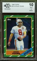 🔥📈🔥 1986 Topps #374 Steve Young Rookie Card BGS BCCG 10 Mint+ 🔥📈🔥