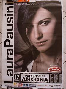 Laura Pausini poster manifesto 100 x 70 cm originale vintage Resta In Ascolto