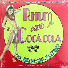 The Andrews Sisters ‎CD Single Rhum And Coca Cola - Promo - France (M/M -