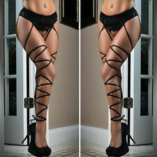 Womens Sexy Hot Lace Top Thigh-Highs Stockings Socks + Suspender Garter Belt