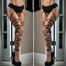 Hot Womens Lace Top Thigh-Highs Stockings Socks + Suspender Garter Belt Sexy