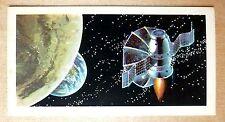 Brooke Bond RACE INTO SPACE card 12. Zond series, lunar probes.