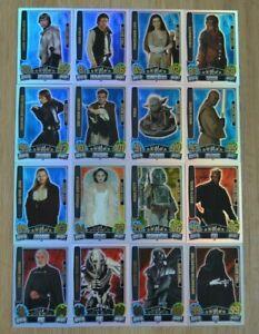 Force Attax Movie Card Serie 3 alle 16 Force Meister komplett Topps Star Wars