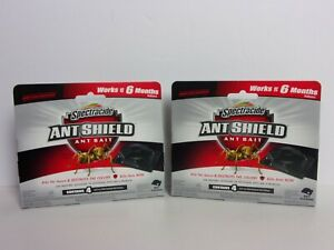 Lot of 2 Boxes Spectracide Ant Shield (8 Total) Bait Stations - Child Resistant