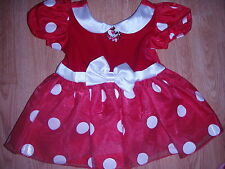 Disney Store MINNIE MOUSE Baby COSTUME 6-12M HALLOWEEN Infant Dress
