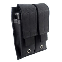Tactical Hunting Molle Double Magazine Pouch Holster Pistol Mag Bag Holder