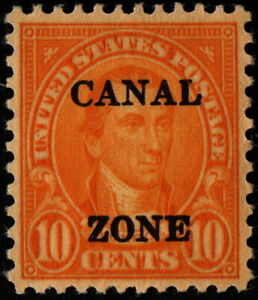 Canal Zone - 1930 - 10 Cents Orange James Monroe Issue Overprinted #104 Mint XF