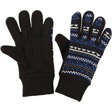 Puma Womens Black Gloves acrylic knitted graphic warm winter Size Medium