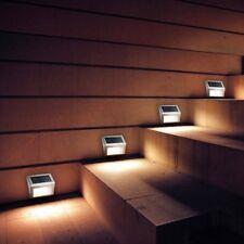 Solar Step Light Outdoor Security Garden Wall Lighting Sensor 3 LED Lamp *2Pcs