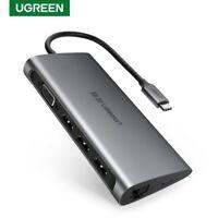 Ugreen USB C Hub Type C VGA Adapter Dock Station SD TF Card Reader for Macbook