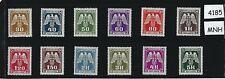 Complete MNH WWII Emblem stamp set / 1943 / WWII German Occupation / Third Reich