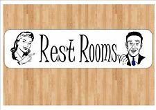 Signo de sala de descanso American Inodoro Baño signo de sala de descanso firmar Baño Puerta Firmar