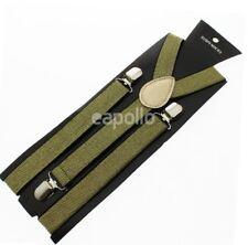 Unisex Novelty Fancy Dress Fashion Braces Gold Thread Pattern One Size