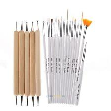 DIY 20pcs Nail Art Design Dotting Painting Drawing Polish Brush Pen Tool set