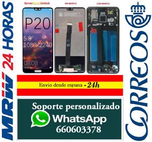 Pantalla Original Completa para Huawei P20 Con Marco / Sin Marco Negra