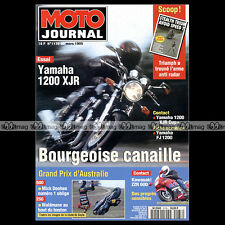 MOTO JOURNAL N°1176 YAMAHA FJ XJR 1200 KAWASAKI ZZR 600 GRAND PRIX EASTERN CREEK