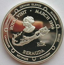 Bermuda 1994 Map 2 Dollars Silver Coin,Proof