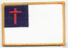 Christian Christianity Religious Flag Patch  Badge