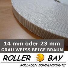 Rolladengurt Gurtband Mini oder Maxi alle Farben 50 m grau wei�Ÿ beige braun